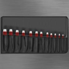 Rundlocheisen Rolltasche von 3 bis 22 mm in Rolltasche 9 teilig