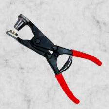 Hebellochzange mit Kunststoffgriff inklusive 9mm Lochpfeife.
