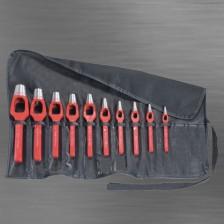 Henkellocheisensatz von 2 bis 10 mm in Rolltasche 9 teilig